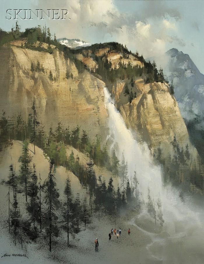 Thomas Andrew Nicholas  (American, b. 1934)      Yosemite Falls, Sierra Nevada, California