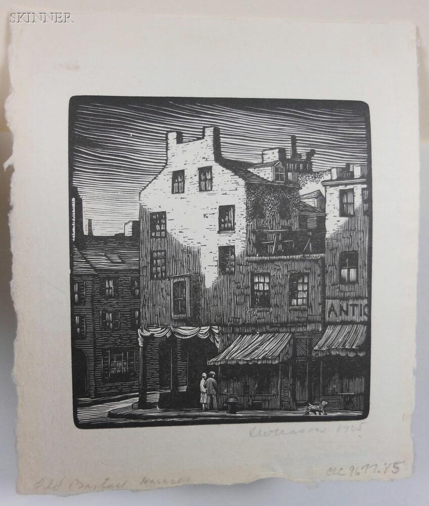 Thomas Willoughby Nason (American, 1889-1971)    Old Boston Houses