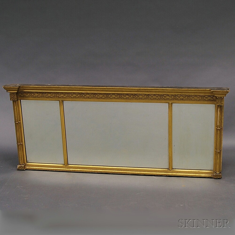 Gilt Gesso Overmantel Mirror