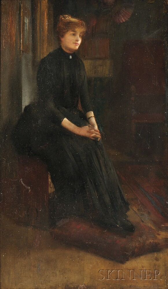 Attributed to William A. Coffin (American, 1855-1925)      Quiet Contemplation