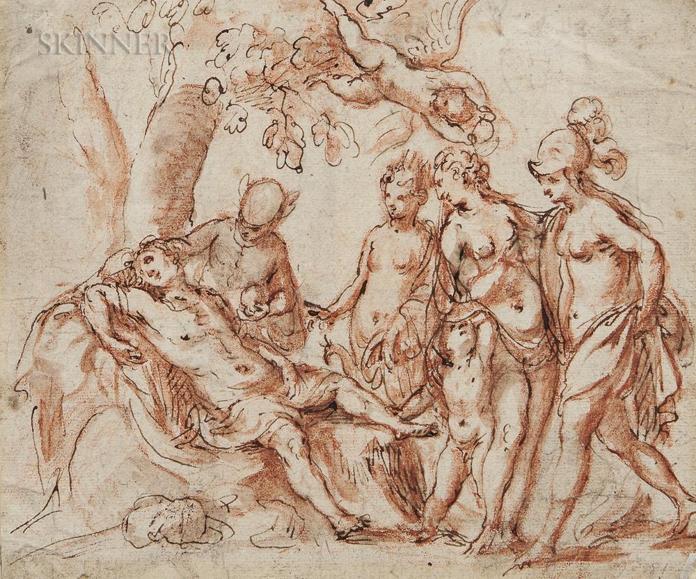 School of Hans von Aachen (German, 1552-1615)    The Dream of Paris