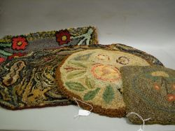 Four Hooked Rugs and Mats