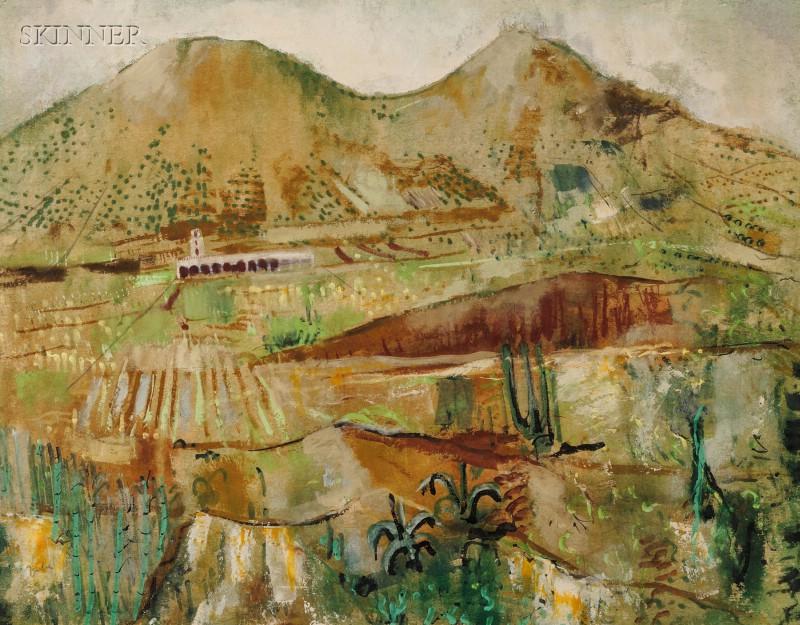 Karl Zerbe (American, 1903-1972)      Spring Fields
