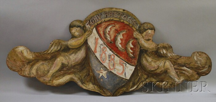 Painted Vaudeville Trade Sign Panel