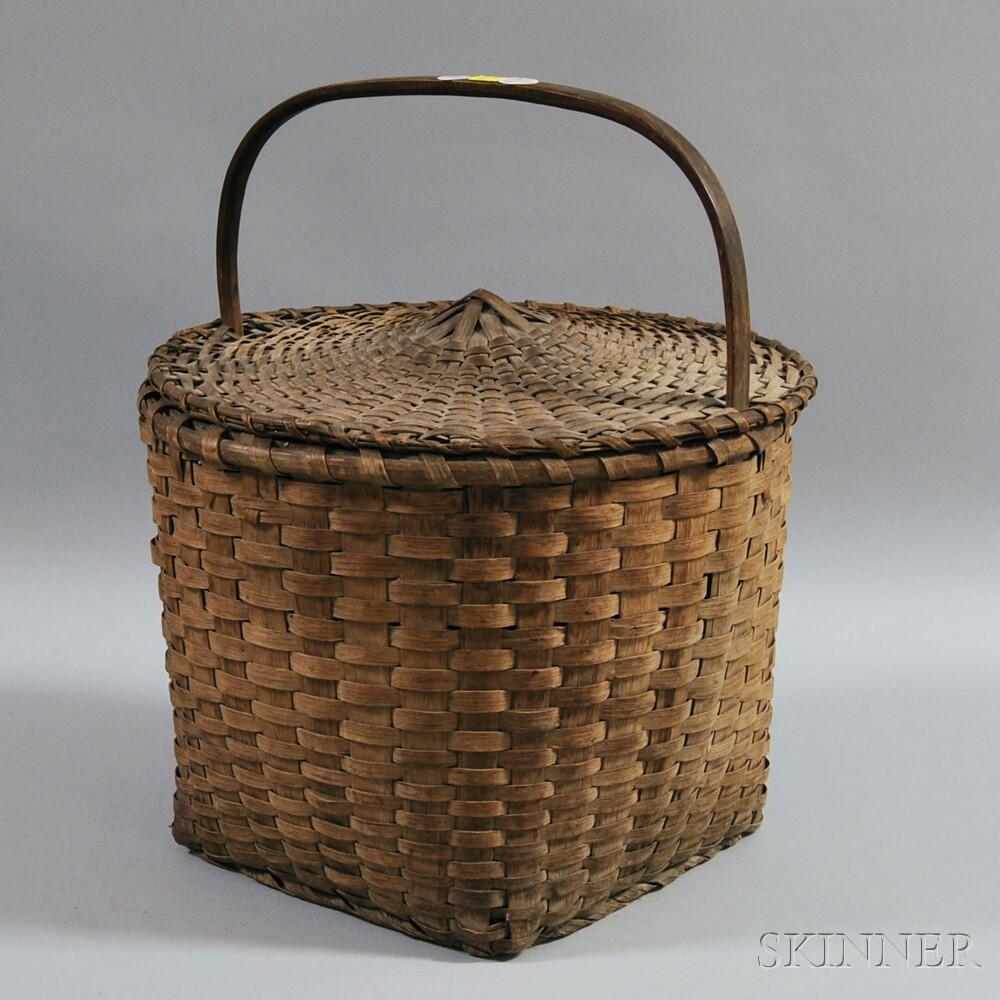 Woven Splint Covered Basket