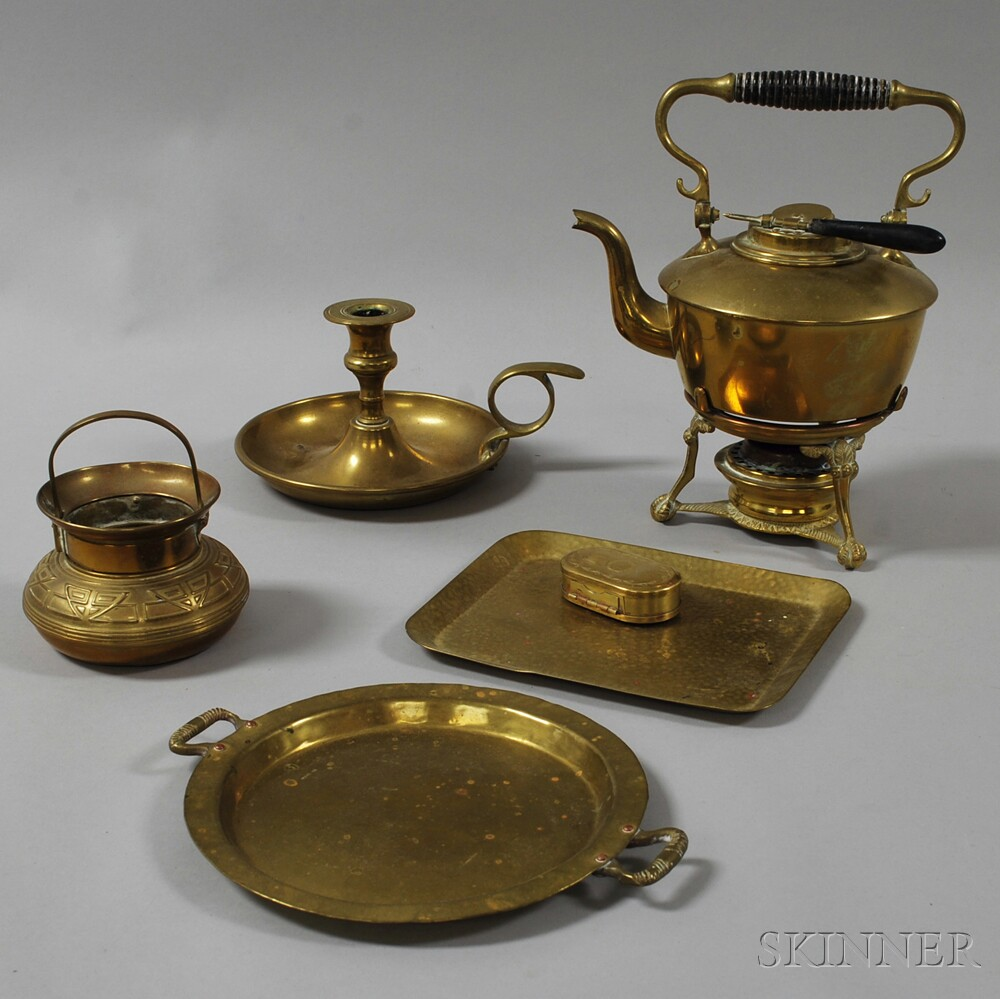 Seven Miscellaneous Brass Items