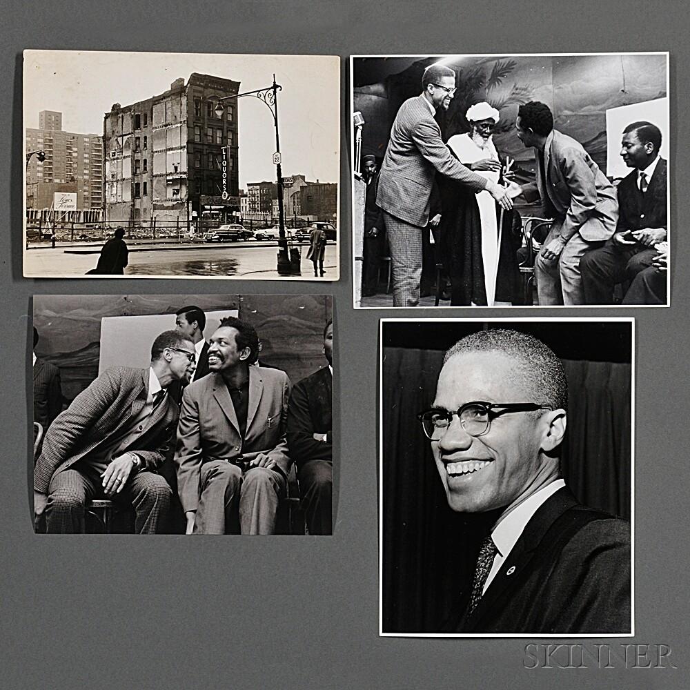 Malcolm X (1925-1965) Nine Photographs Taken by Robert Haggins (1922-2006)