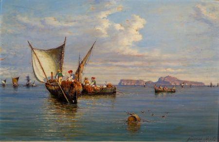 Giuseppe Carelli (Italian, 1858-1921)    Bay of Naples