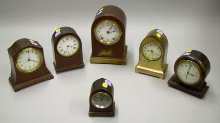 Lot of Six Miniature Clocks
