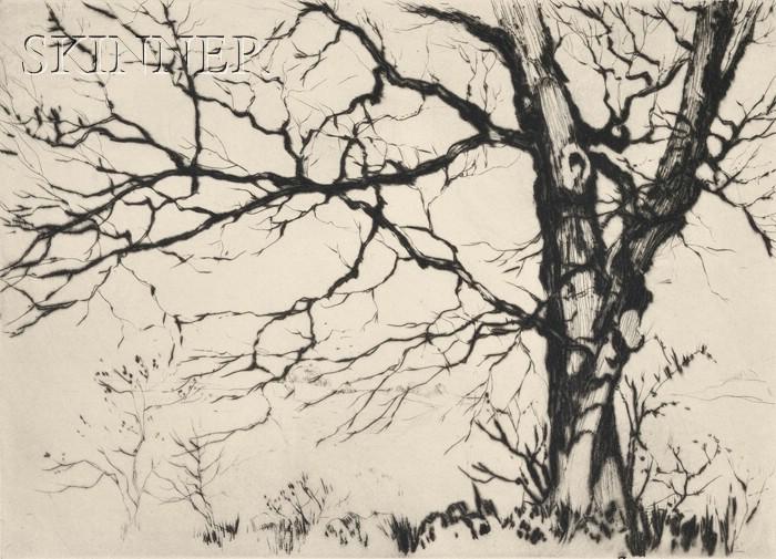 Samuel V. Chamberlain (American, 1895-1975)      A Study of Trees