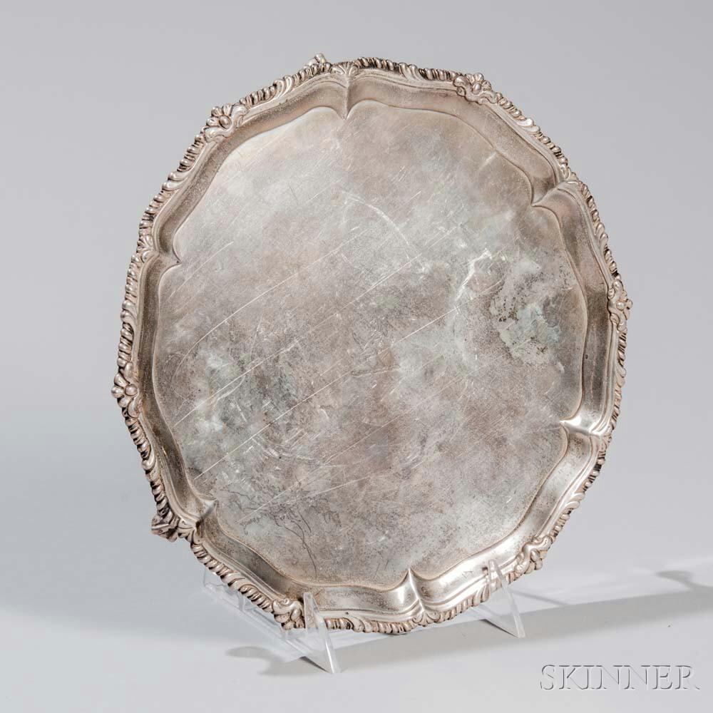 George II Sterling Silver Salver