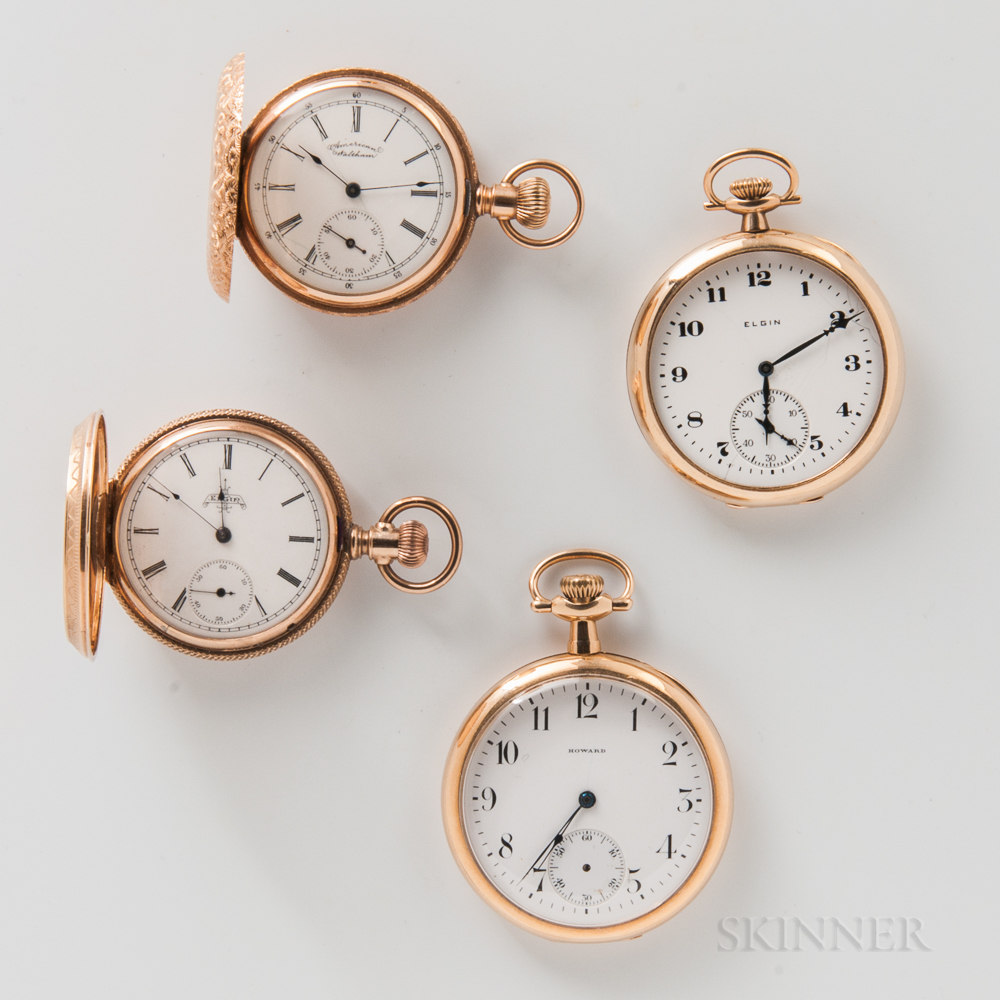 Four American Gold Watches