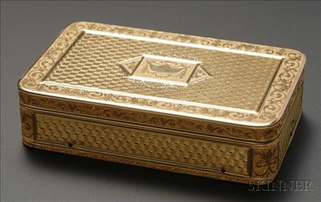 Fine Gold Musical Snuff Box
