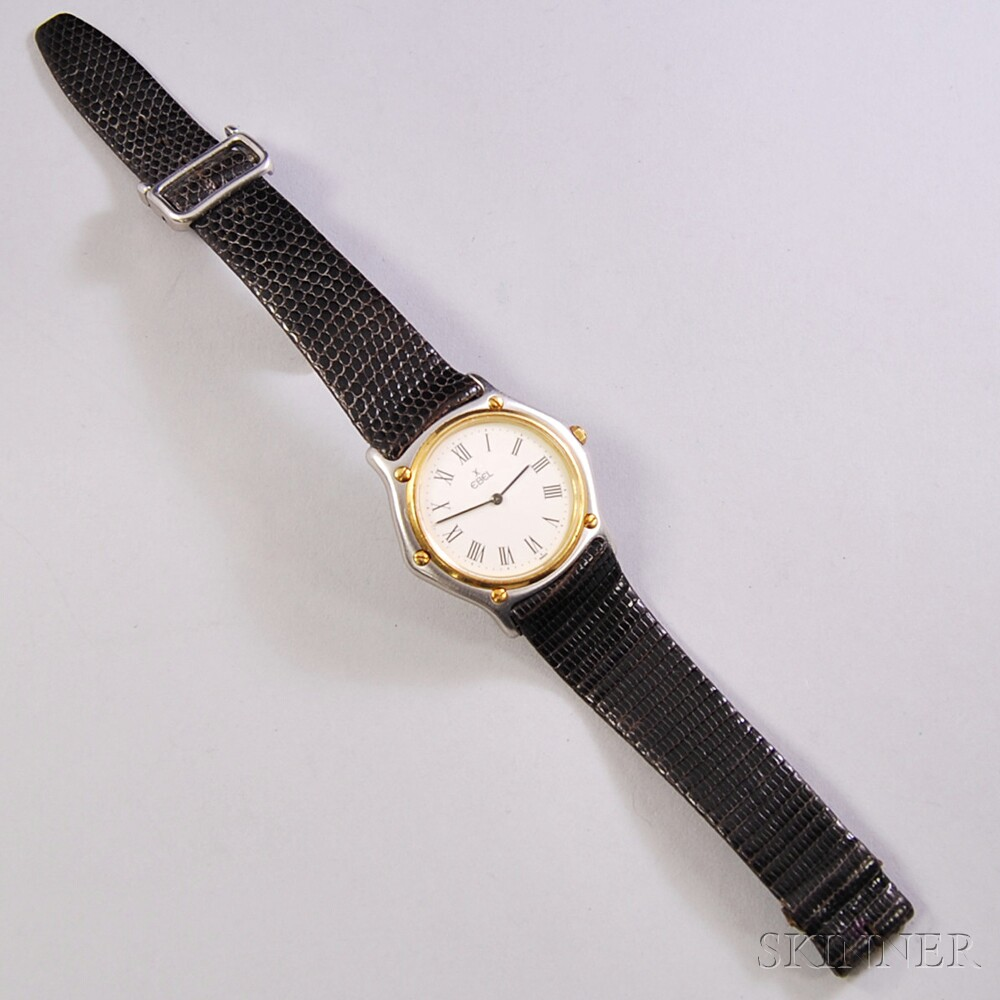 Stainless Steel and Gold Ebel Wristwatch