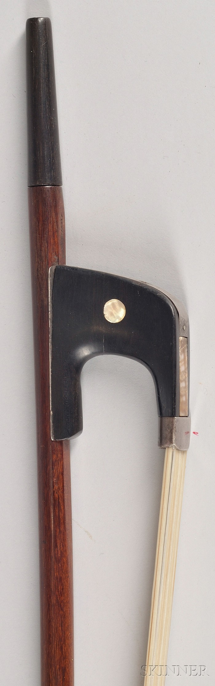 German Silver Mounted Contrabass Bow