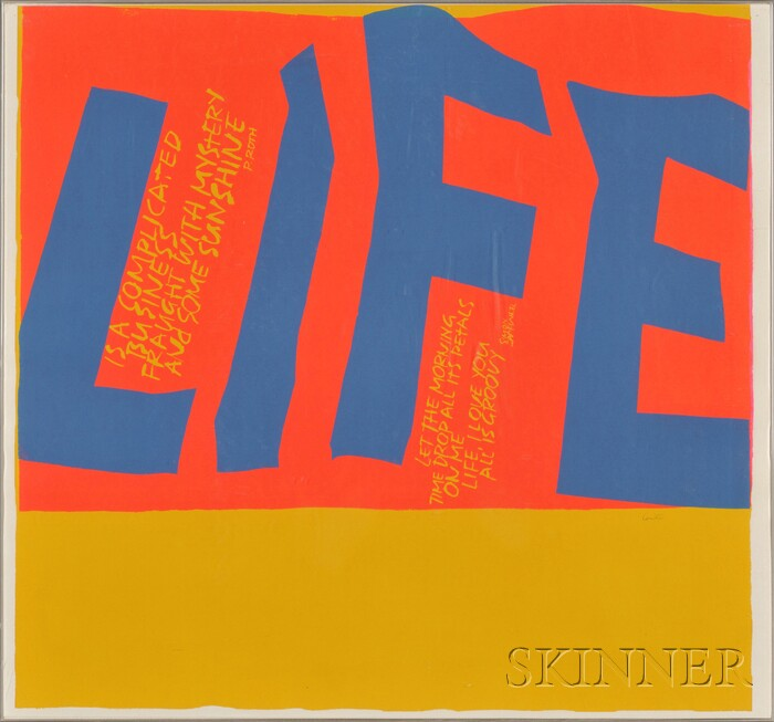 "Mary Corita Kent (American, 1918-1986)      ""Life is a complicated business fraught with mystery and some sunshine..."""