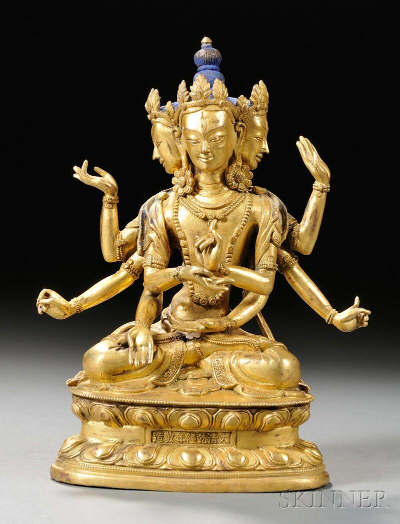 Gilt-bronze Avalokiteshvara