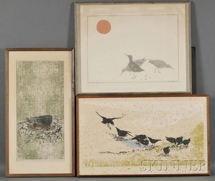 Lot of Three Bird Prints:      Cornelia Ford (American, 20th/21st Century), Sandpipers