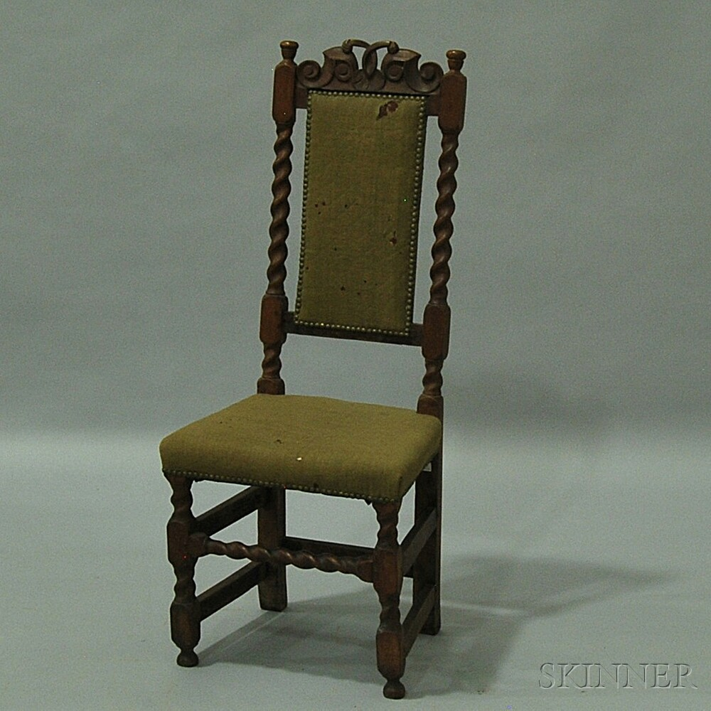 William and Mary Carved Beech Side Chair