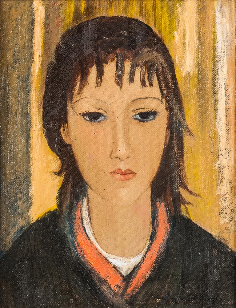 John Hansegger (American, 1908-1989)      Two Portrait Heads of Women