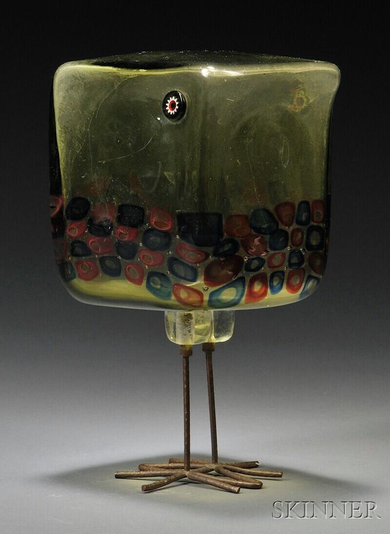 """Alessandro Pianon """"Pulcino"""" Bird Sculpture for Vistosi"""