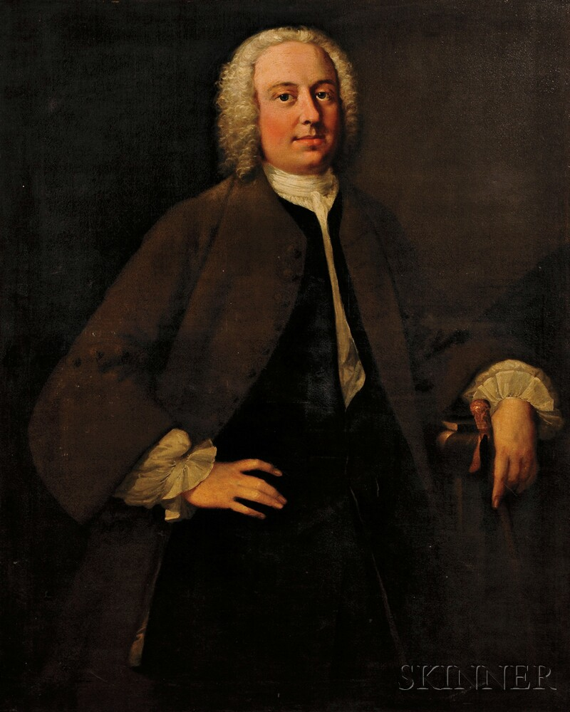 School of Thomas Hudson (British, 1701-1779)      Portrait of a Gentleman, thought to be John Porter, c. 1732-1793