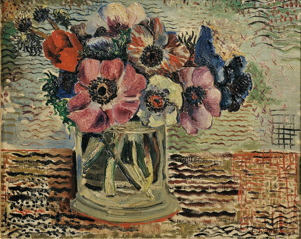 Christopher (Kit) Wood (British, 1901-1930)      Anemones in a Glass Jar