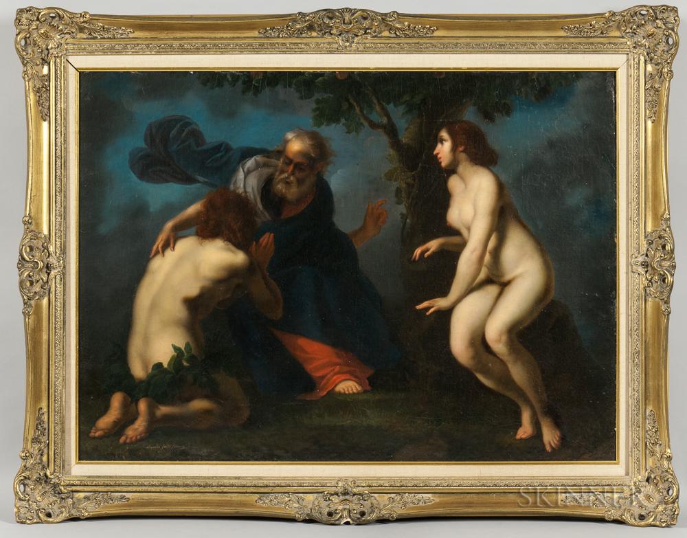 Leopoldo Galli (Italian, 19th Century), After Francesco Furini (Italian, 1604-1646)      Adam and Eve