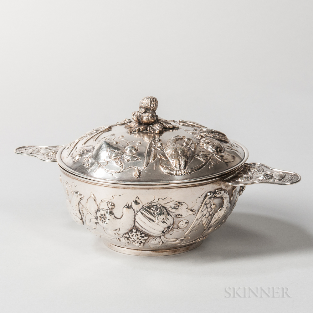 German Silver Vegetable Tureen