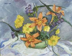 Christina Bauer (American, 20th Century)  Flowers from My Garden