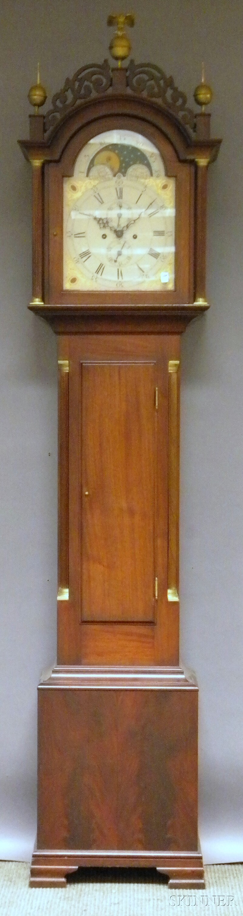 Tiffany & Co. Mahogany Grandfather Clock