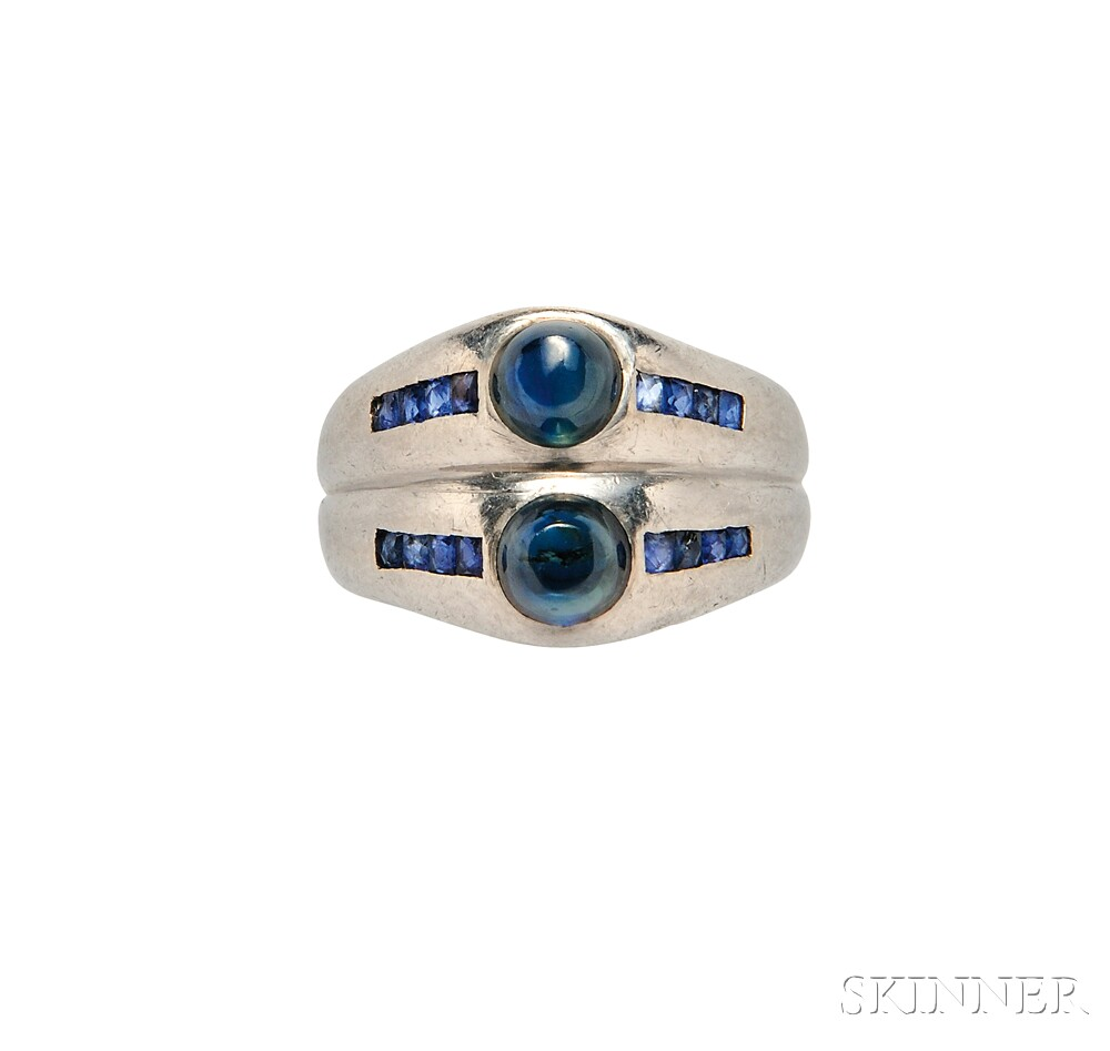 Platinum and Sapphire Ring