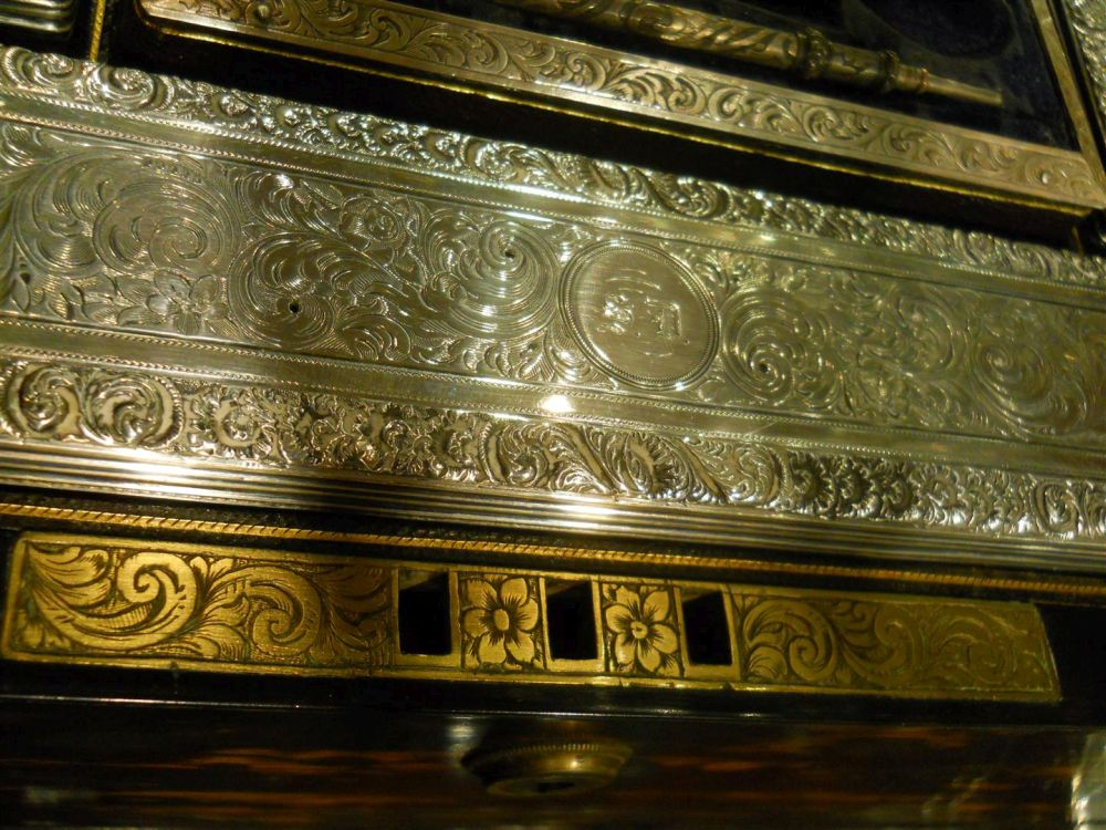 Victorian Brass-inlaid and Coromandel Toiletry Box