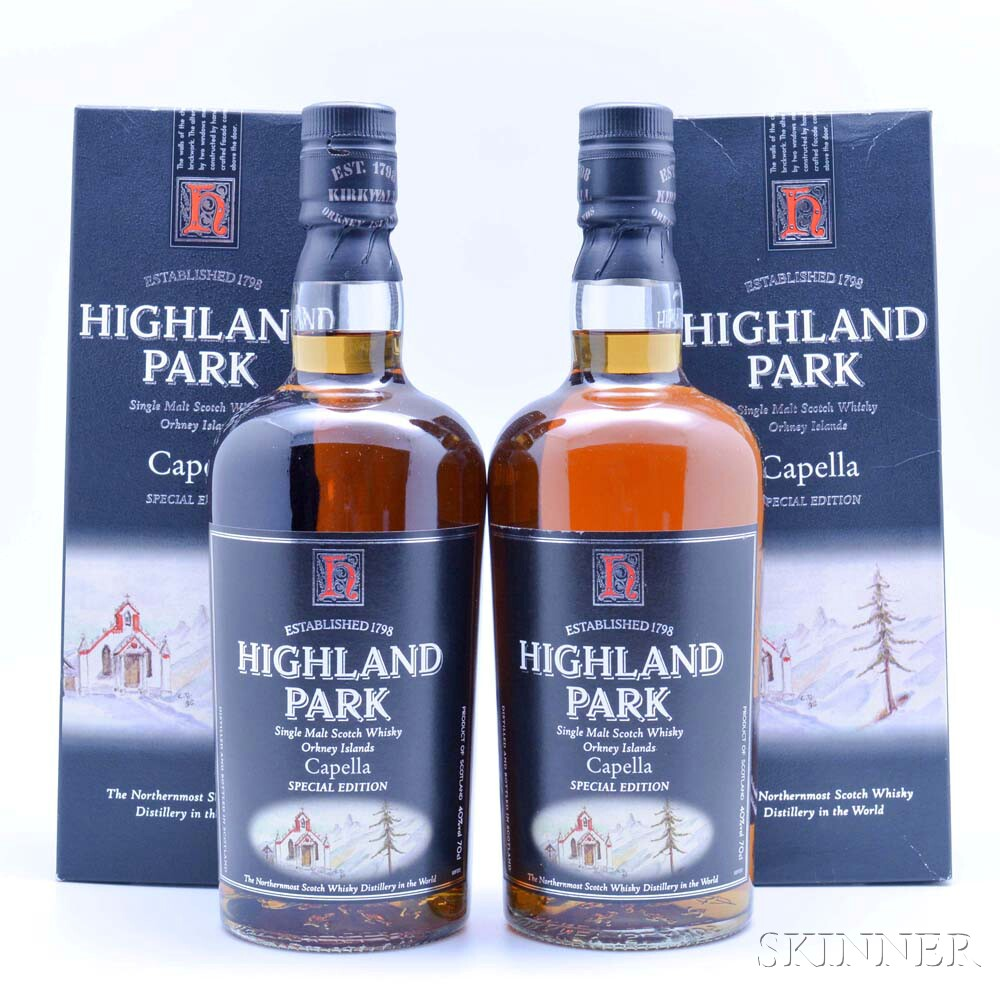 Highland Park Capella Special Edition, 2 70cl (oc) bottles