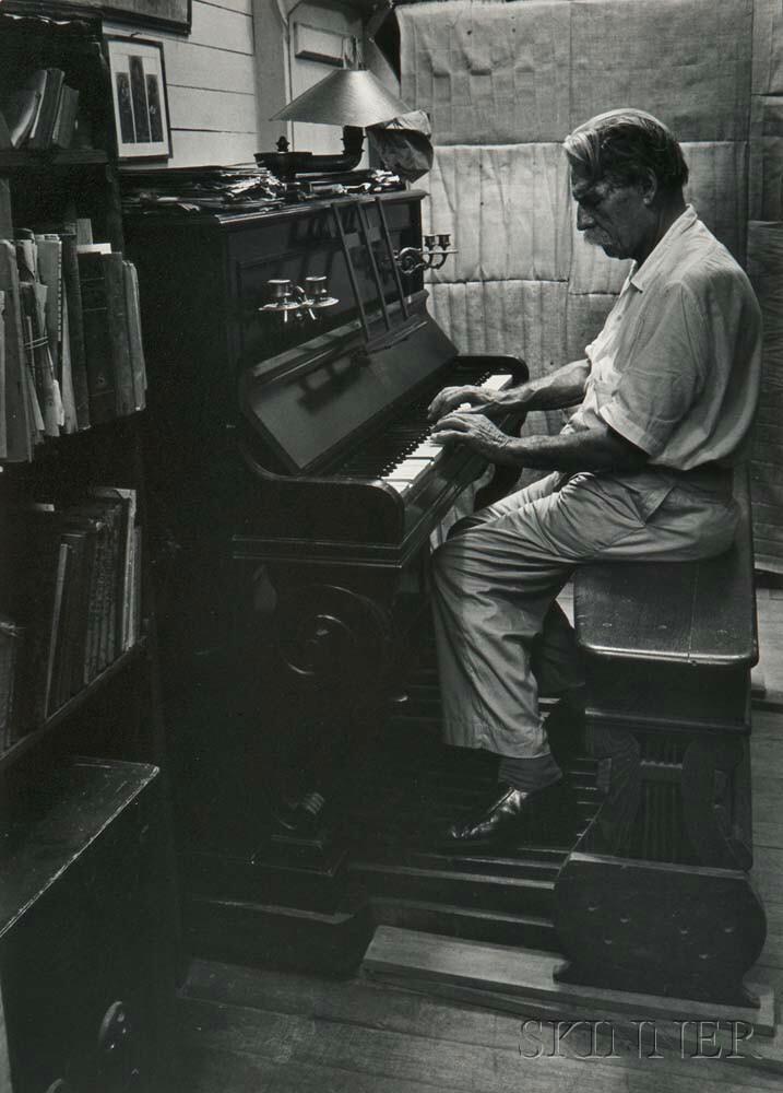 W. Eugene Smith (American, 1918-1978)      Dr. Albert Schweitzer Playing an Organ