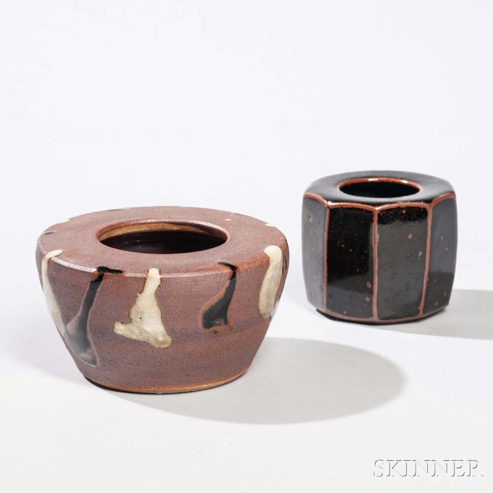 Two Stoneware Censers