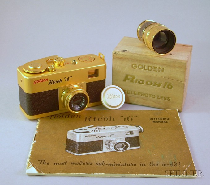"Golden Ricoh ""16"" Subminiature Camera No. 10717"