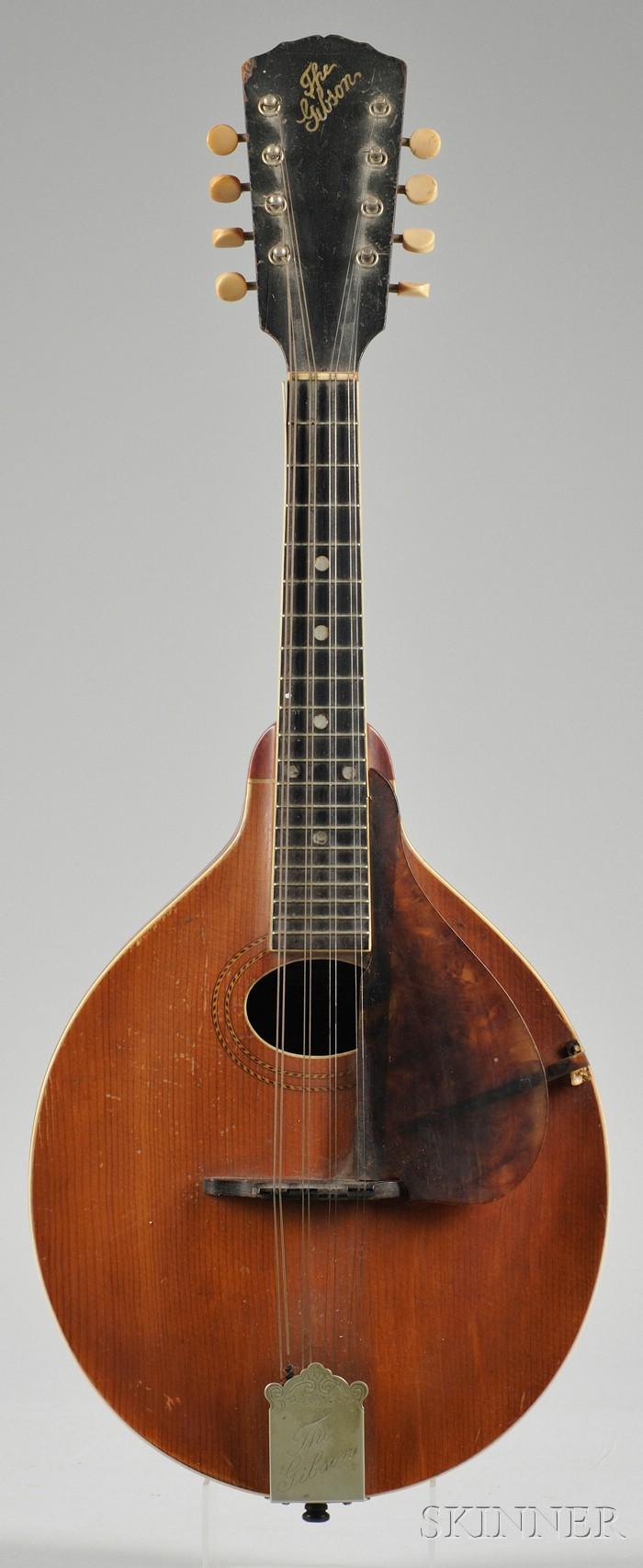 American Mandolin, Gibson Mandolin-Guitar Company, Kalamazoo, c. 1915, Style A1