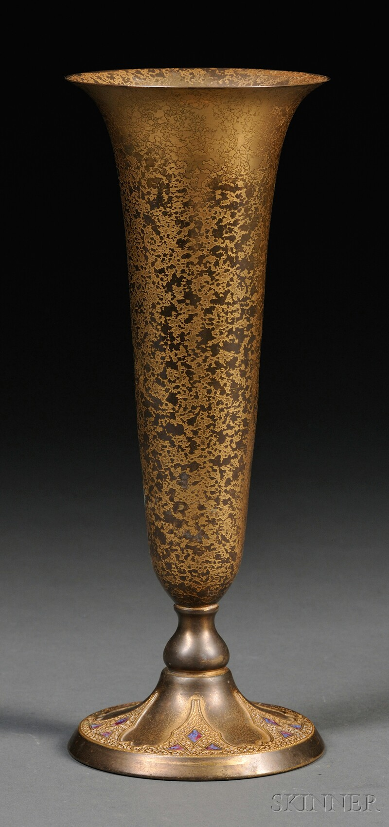 Tiffany Furnaces Trumpet Vase