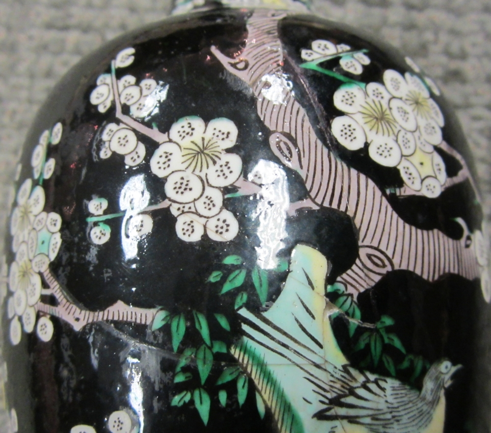 Chinese Famille Noire Vase