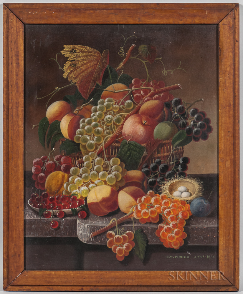 American School, c. 1866      Still Life with Fruit