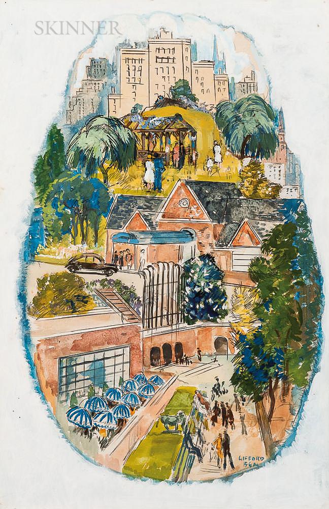 Gifford Beal (American, 1879-1956)      Spring Fantasy #2