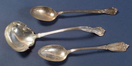 Three American Sterling Serving Pieces