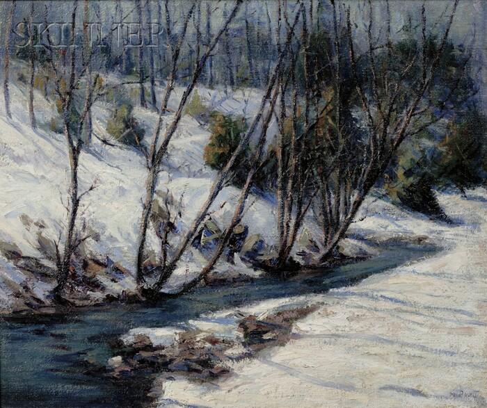 Marian Parkhurst Webber Waitt Sloane (American, 1876-1954)      Winter Stream