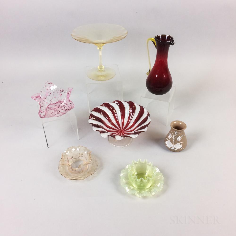 Nine Pieces of Art Glass