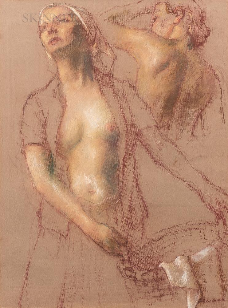 Robert Brackman (American, 1898-1980)      Two Figure Study