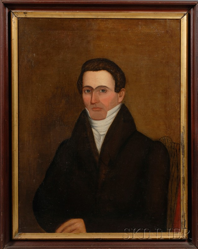 American School, 19th Century      Portrait of a Gentleman Seated on a Chair.