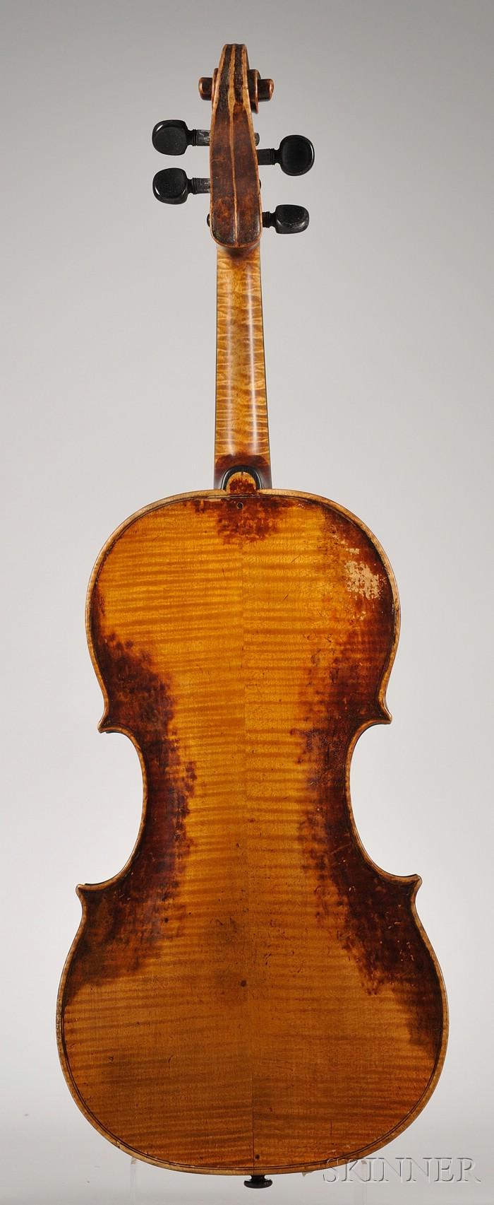 Tyrolean Violin, c. 1850, Ascribed to Matteo Albani