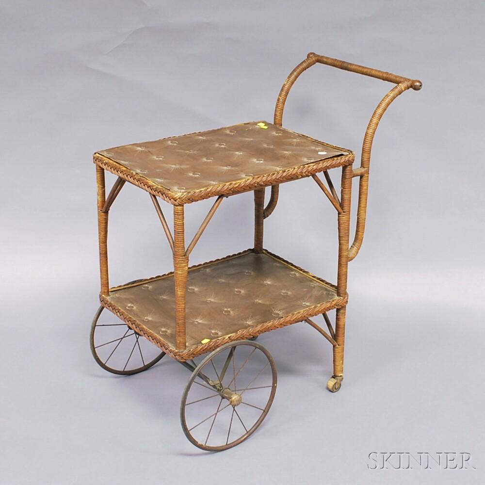 Heywood-Wakefield Wicker Tea Cart