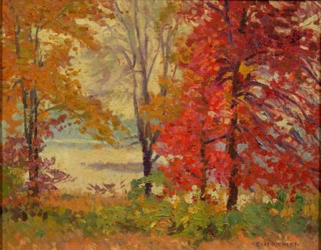 Charles Henry Richert (American, 1880-1974)    October View Across Fort Meadow from Bound Stone Farm